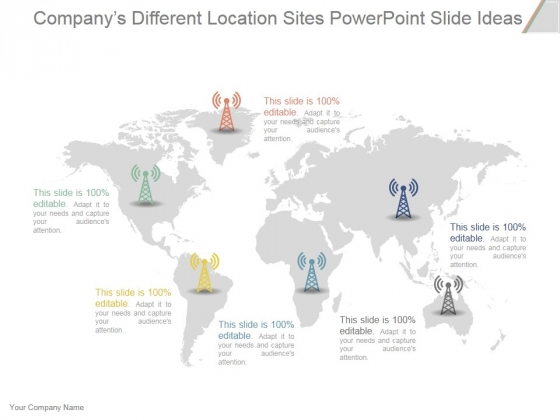 companys different location sites ppt powerpoint presentation