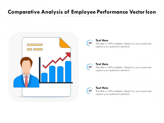 Comparative Analysis Of Employee Performance Vector Icon Ppt PowerPoint Presentation File Clipart Images PDF