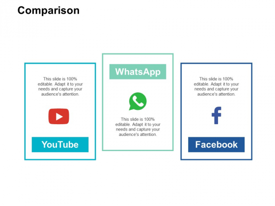 Comparison And Audiences Attention Ppt PowerPoint Presentation File Slide Download