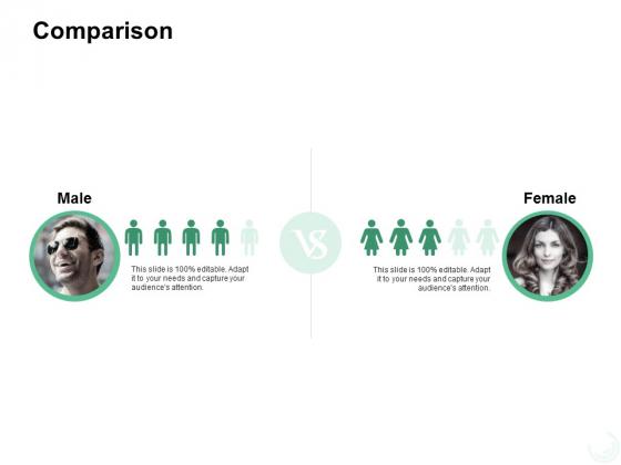 Comparison Male Female Ppt PowerPoint Presentation Design Templates