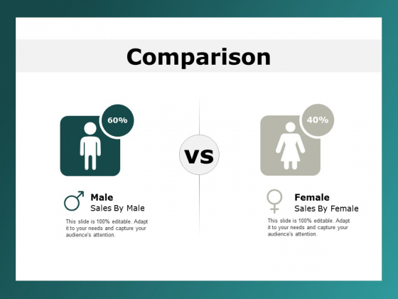 comparison male female ppt powerpoint presentation infographic template rules