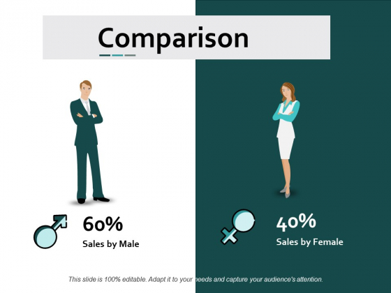 Comparison Male Female Ppt Powerpoint Presentation Layouts Slide Download