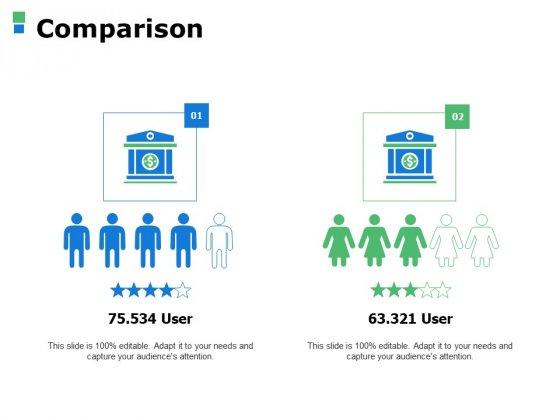 Comparison Male Female Ppt Powerpoint Presentation Pictures Icons