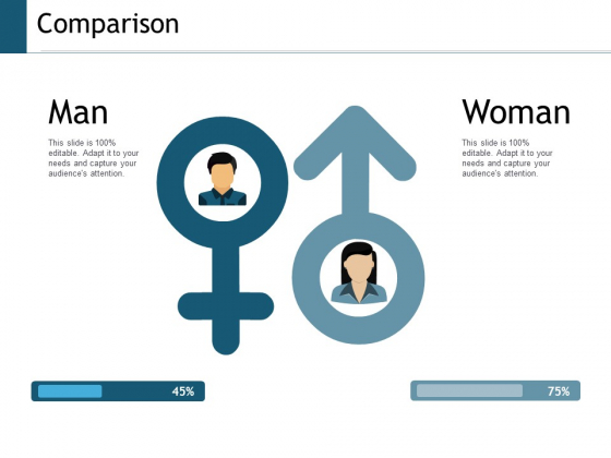 Comparison Man Woman Ppt Powerpoint Presentation Professional Structure