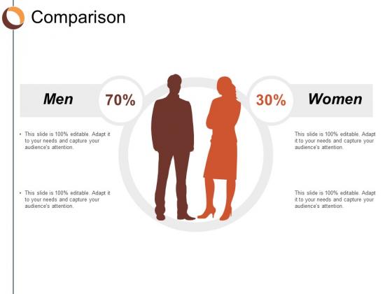 Comparison Men Women Ppt Powerpoint Presentation File Smartart