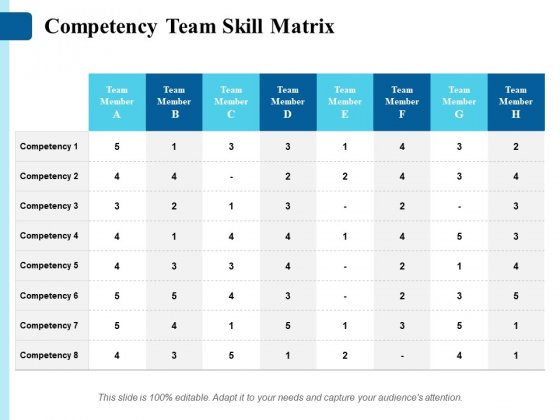 Competency Team Skill Matrix Ppt PowerPoint Presentation Styles Visual Aids