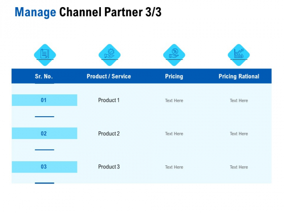 Competition In Market Manage Channel Partner Product Ppt Icon Infographics PDF