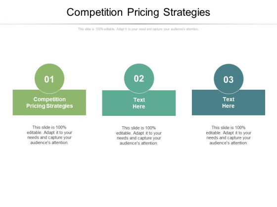Competition Pricing Strategies Ppt PowerPoint Presentation Inspiration Model Cpb Pdf