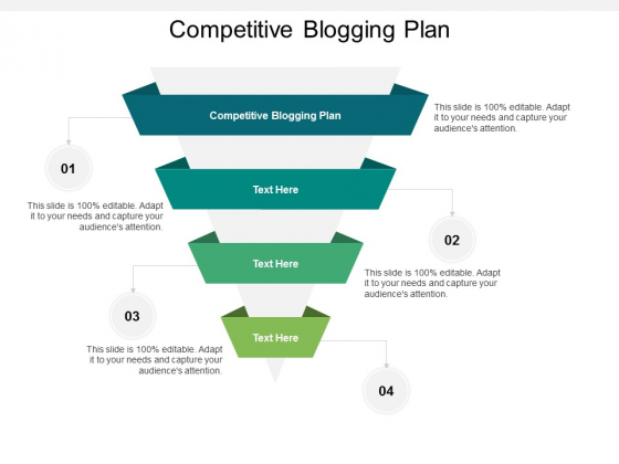 Competitive Blogging Plan Ppt PowerPoint Presentation Show Brochure Cpb