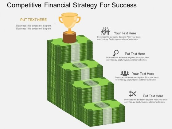 Competitive Financial Strategy For Success Powerpoint Template