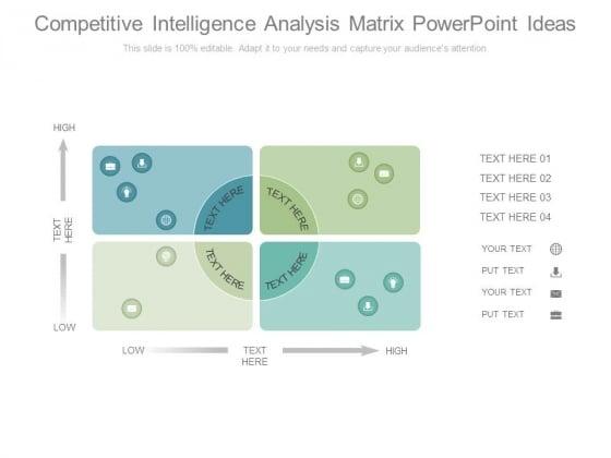 Competitive Intelligence Analysis Matrix Powerpoint Ideas