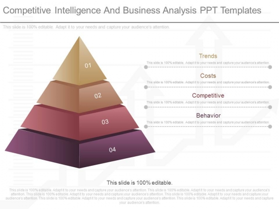 Competitive Intelligence And Business Analysis Ppt Templates