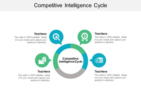 Competitive Intelligence Cycle Ppt PowerPoint Presentation Visual Aids Inspiration Cpb