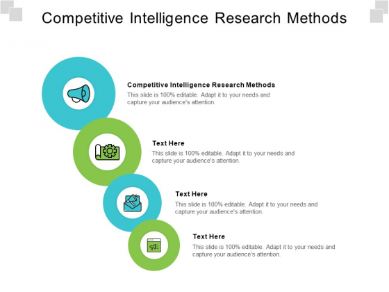 Competitive Intelligence Research Methods Ppt PowerPoint Presentation Pictures Samples Cpb Pdf