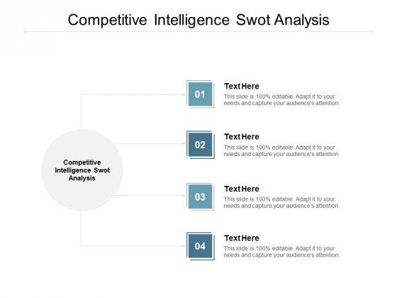 Competitive Intelligence SWOT Analysis Ppt PowerPoint Presentation Styles Backgrounds