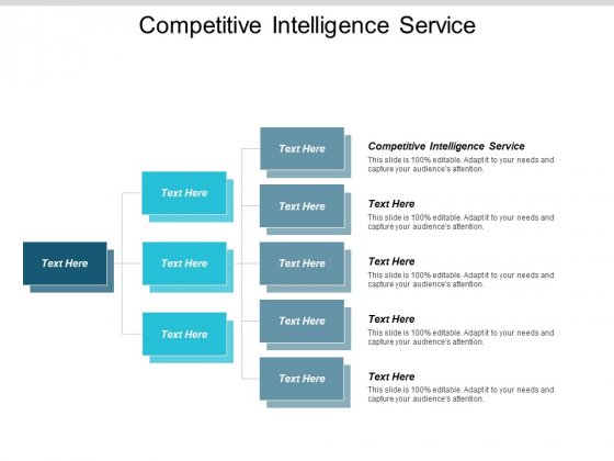 Competitive Intelligence Service Ppt PowerPoint Presentation Summary Mockup Cpb