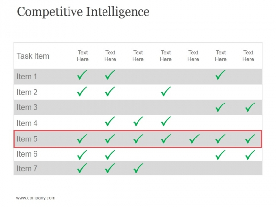 Competitive Intelligence Template 2 Ppt PowerPoint Presentation Summary Deck