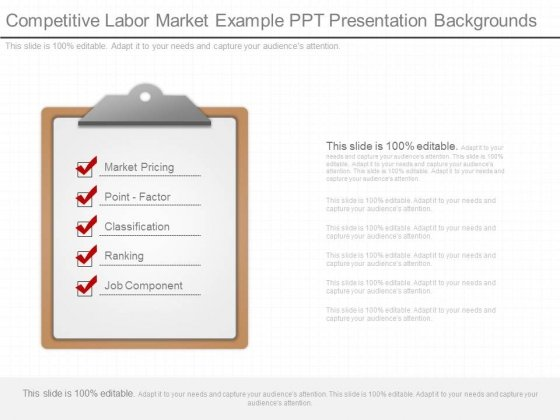 Competitive Labor Market Example Ppt Presentation Backgrounds
