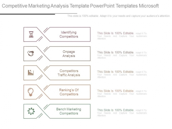 Identifying competitors PowerPoint templates Slides and Graphics – Microsoft Competitive Analysis
