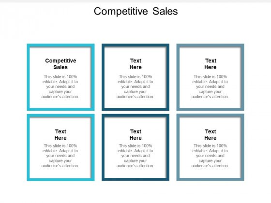 Competitive Sales Ppt PowerPoint Presentation Gallery Portfolio Cpb