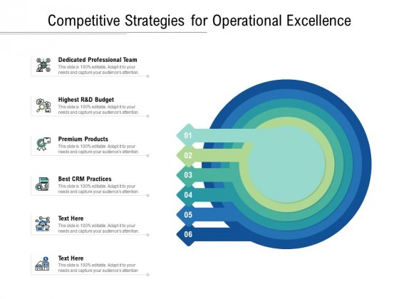 Competitive Strategies For Operational Excellence Ppt PowerPoint Presentation Show Design Inspiration