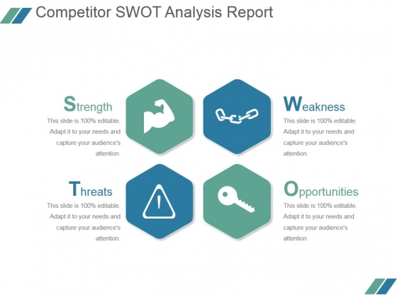 Competitor Swot Analysis Report Ppt PowerPoint Presentation Slides