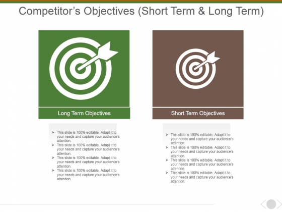 Competitors Objectives Ppt PowerPoint Presentation Infographics Topics