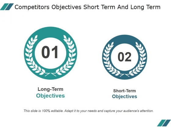 Competitors Objectives Short Term And Long Term Ppt PowerPoint Presentation Example 2015