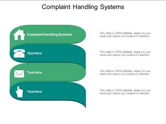 Complaint Handling Systems Ppt PowerPoint Presentation Model Portrait Cpb Pdf