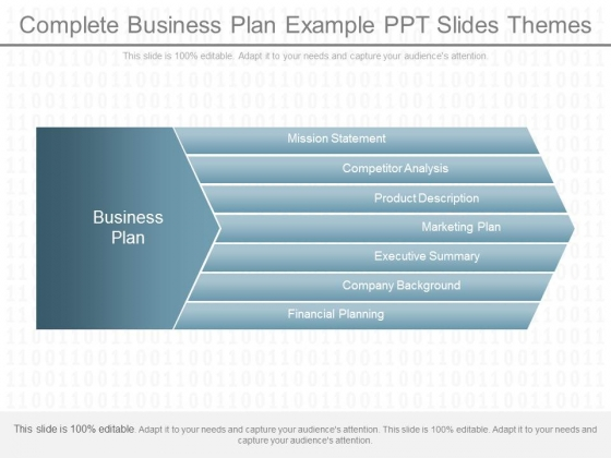 Complete Business Plan Example Ppt Slides Themes