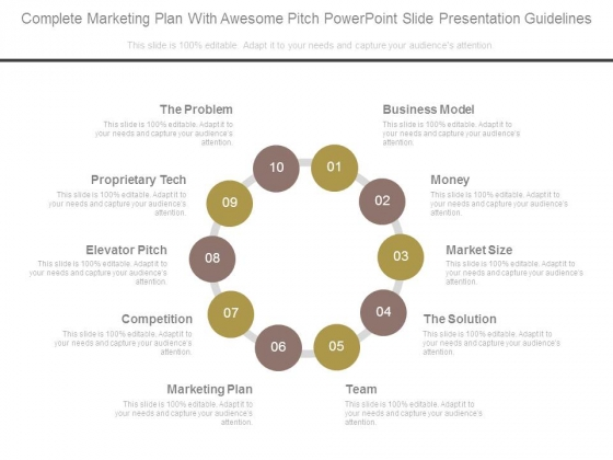 Complete Marketing Plan With Awesome Pitch Powerpoint Slide Presentation Guidelines
