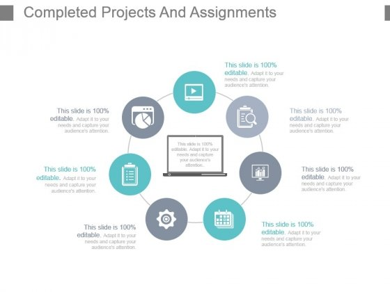 Completed Projects And Assignments Powerpoint Slide Background