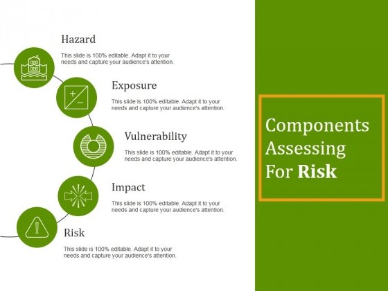 Components Assessing For Risk Ppt PowerPoint Presentation Layouts