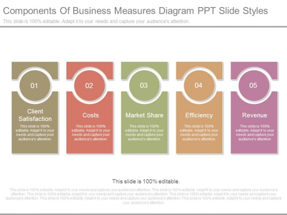 Components Of Business Measures Diagram Ppt Slide Styles