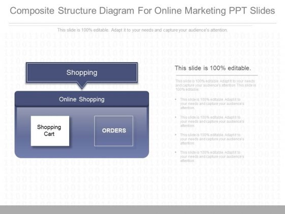 Composite Structure Diagram For Online Marketing Ppt Slides