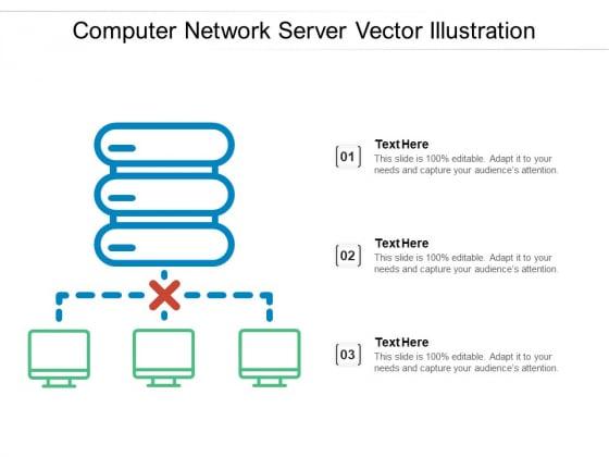 Computer Network Server Vector Illustration Ppt PowerPoint Presentation Summary Visuals PDF