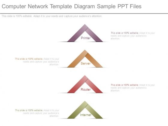 Computer Network Template Diagram Sample Ppt Files