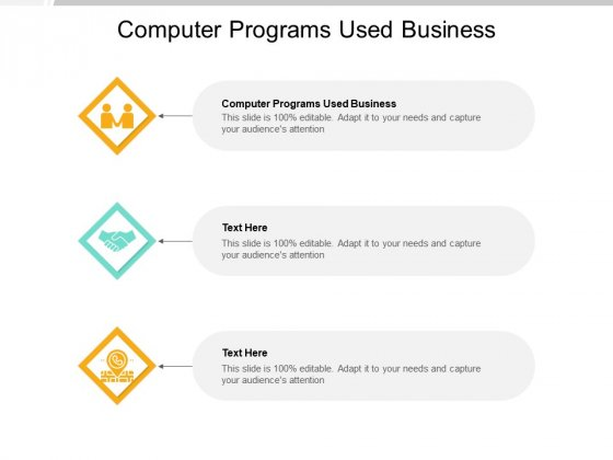 Computer Programs Used Business Ppt PowerPoint Presentation File Diagrams Cpb Pdf