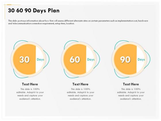 Computer Security Incident Handling 30 60 90 Days Plan Ppt File Templates PDF