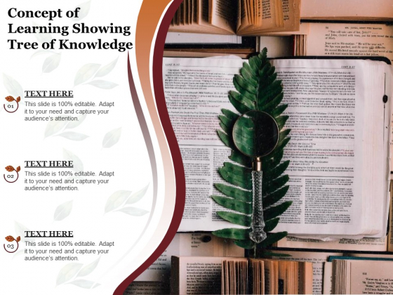 Concept Of Learning Showing Tree Of Knowledge Ppt PowerPoint Presentation Outline Outfit PDF
