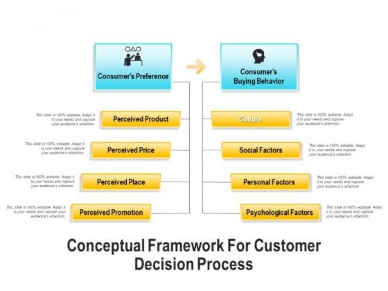 Conceptual Framework For Customer Decision Process Ppt PowerPoint Presentation Outline Brochure PDF