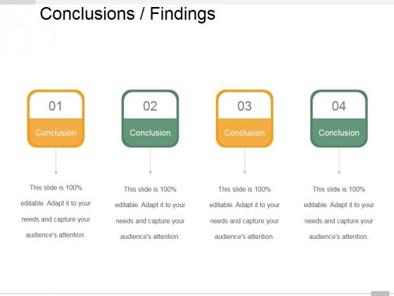 Conclusions Findings Ppt PowerPoint Presentation Outline Examples