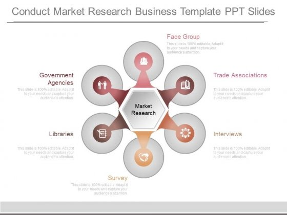 Conduct Market Research Business Template Ppt Slides