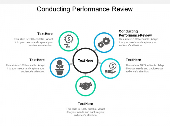 Conducting Performance Review Ppt PowerPoint Presentation Summary Mockup Cpb