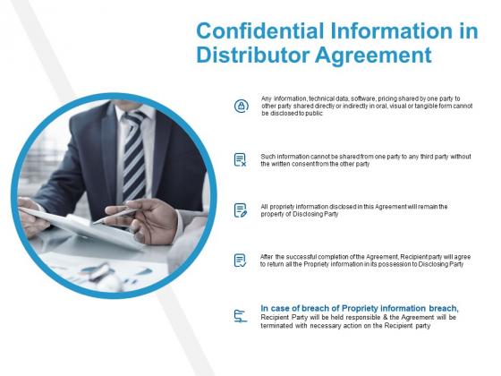 Confidential Information In Distributor Agreement Ppt PowerPoint Presentation Gallery Smartart