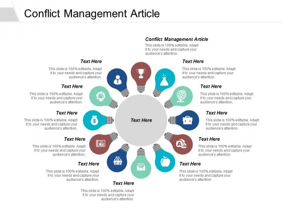 Conflict Management Article Ppt PowerPoint Presentation Model Format Cpb