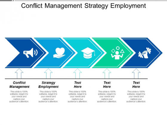 Conflict Management Strategy Employment Ppt PowerPoint Presentation Show Visual Aids