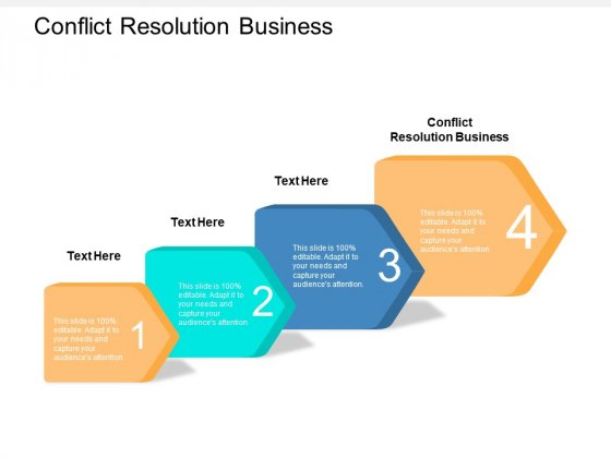 Conflict Resolution Business Ppt PowerPoint Presentation Icon Show Cpb