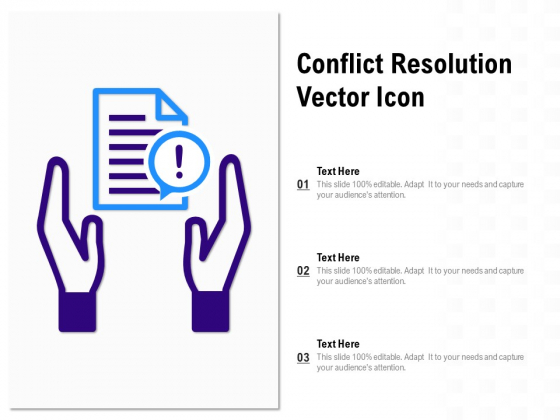 Conflict Resolution Vector Icon Ppt PowerPoint Presentation Outline Outfit