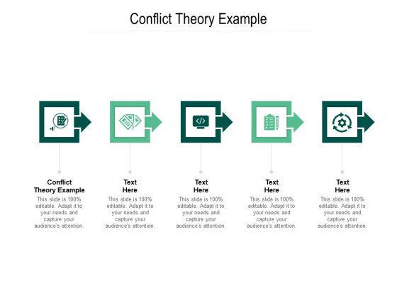 Conflict Theory Example Ppt PowerPoint Presentation Summary Slide Portrait Cpb Pdf